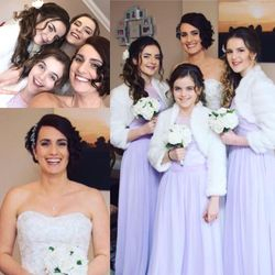 Stunning Amy and her Bridesmaids