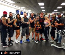 Rich Piana and 5% Nutrition Team