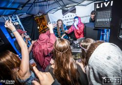 Tech Hipp lighting and sound for Gravitas/Banjos to Beats - Air Up There 2015 SXSW @ 219 West