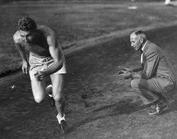(Coach) Dean Cromwell, Training Charley