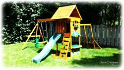 Ridgeview playset installed JULY 2013