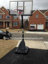 Portable basketball hoop assembly service in woodbridge va