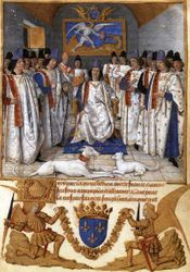 Jean Fouquet, Louis XI Founds Order of St Michael