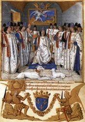 Jean Fouquet, Louis XI Founds Order of St Michael