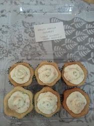 Eggless Vanilla Cupcakes with Citrus Zest Whipped Frosting