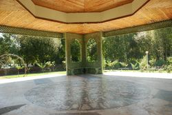 The pagoda in the park in Betanzos