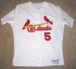Albert Pujols 2008 (MVP Year) Game Used Home Jersey Front