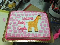 Animal Print Baby cake