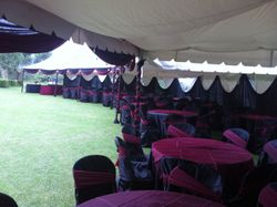 tensts set up for weddings