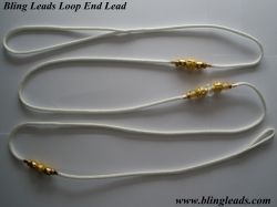 White loop end with gold!