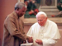 Mandela and Pope John Paul II