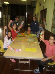 Sunday School creates Sukkah decorations