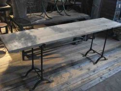 #13/218 Metal Saw Horse Table SOLD