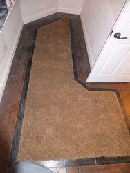 Hardwood Border with Carpet Inset