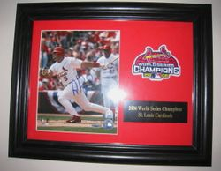 Albert Pujols Signed 8x10 Photo with World Series Patch