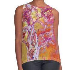 Sunset in the woods tank top