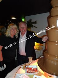 Les Dennis Celebrity Party Chocolate Fountain Hire