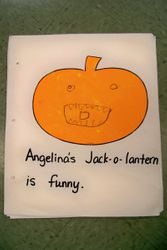 Sample page from our class pumpkin book