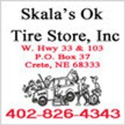 Skala's OK Tire Logo