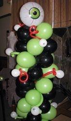 Halloween -- Balloon Column with Eyes