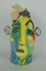 Mary Jones Ceramics. The brick thief.  SOLD