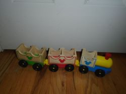 Melissa & Doug Disney Wooden Train - $5