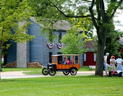 Riding around Greenfield Village