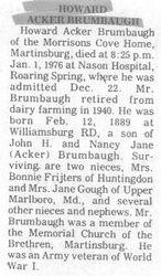 Brumbaugh, Howard Acker 1976