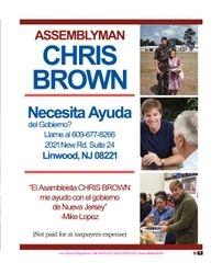 ASSEMBLYMAN CHRIS BROWN / NECESITAS AYUDA DEL GOBIERNO LLAMANOS