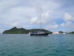 Anchored in Tyrrel Bay