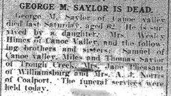 Saylor, George W. 1918