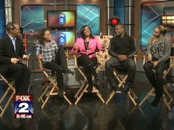 Robin Givens, A'ngela Winbush, Sean Blakemore & Demetria McKinney On MyFoxDetroit & Talks with Lee Thomas