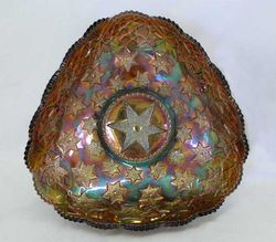 Many Stars tri-cornered bowl, amethyst radium