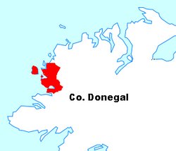 The Rosses on Map of Donegal
