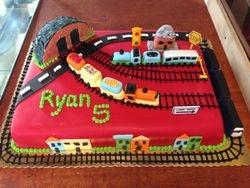 Train Tracks Cake