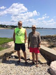 With Victor in Branford, 2019.