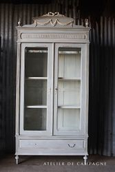 #28/163 FRENCH ARMOIRE/ DISPLAY CASE