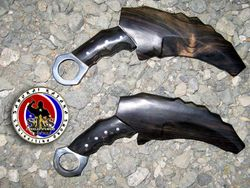 Custom Made 5160 Spring Steel Dual Karambit