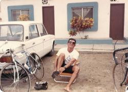 Lic. Julio Fuentes triathlon Playas 1985