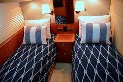 Nautical bedding for the Guest cabin
