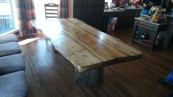 "50 "" by 104"" douglas fir table"