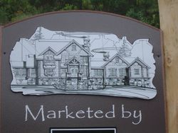 Real Estate Sign with Architectural Rendering