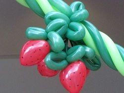 Strawberry Balloon Sculpture