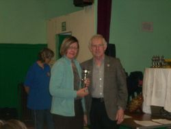 Jane Boulton recieving the Horfield Progress Trophy