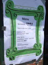 Our menu was a hit!