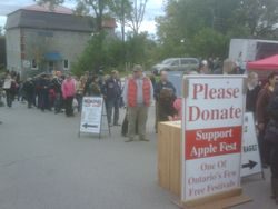 A Line-Up to Donate?
