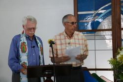 Rev. David Ray and George Mauze, Council Chair