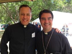 Bishop Cantu and Father Christopher