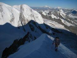 Climbing the Dufourspitze