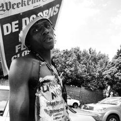 A street seller, Cape Town